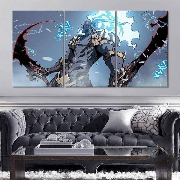 Solo Leveling Demon King Baran Wall Art No Frame / S Official Solo Leveling Merch