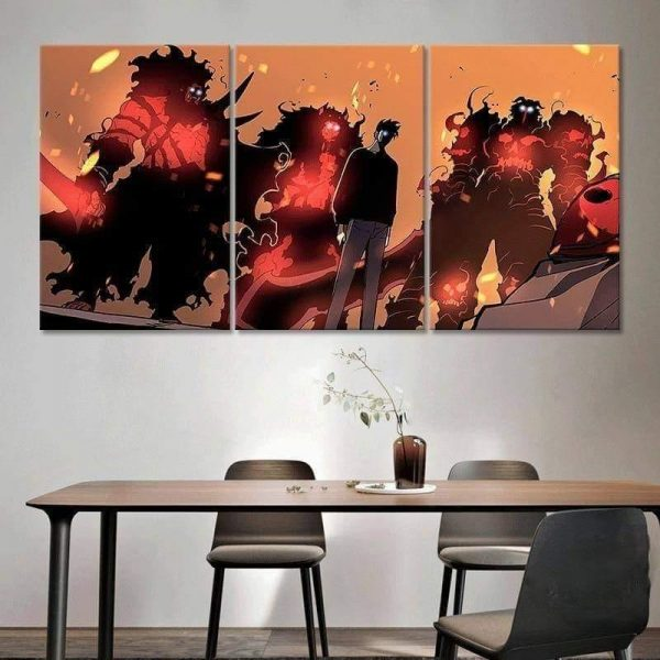 Solo Leveling Jin-woo x High Orcs Tribe Wall Art S Official Solo Leveling Merch