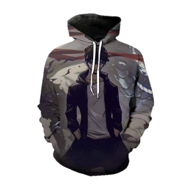 Solo Leveling Domain of the Monarch Jin-Woo Hoodie XS Official Solo Leveling Merch