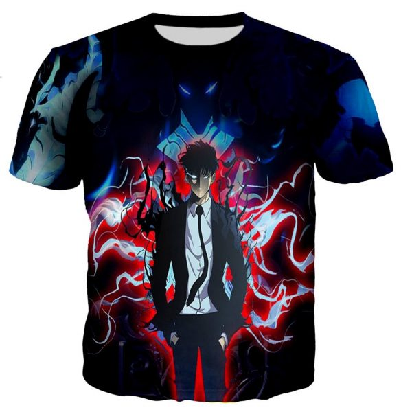 Solo Leveling National Level Hunter Jin Woo T-Shirt XS Official Solo Leveling Merch