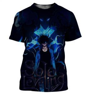 Solo Leveling Shadow Monarch Jin Woo T-Shirt XS Official Solo Leveling Merch