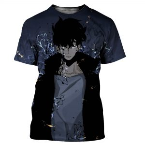 Solo Leveling Aesthetic Sung Jin-Woo T-Shirt XS Official Solo Leveling Merch