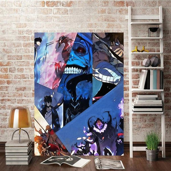 Solo Leveling Anime Adaptation Poster 15x20cm  No Frame Official Solo Leveling Merch