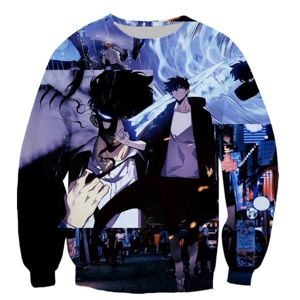 Solo Leveling Sweater Custom Print XS Official Solo Leveling Merch