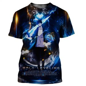 Solo Leveling Sung Jin-Woo Artistic T-Shirt XS Official Solo Leveling Merch