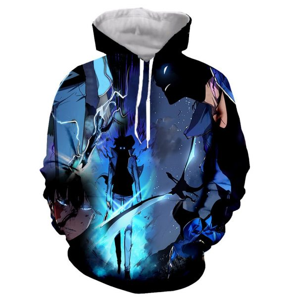 Solo Leveling Reawakened Sung Jin Woo Hoodie XS Official Solo Leveling Merch