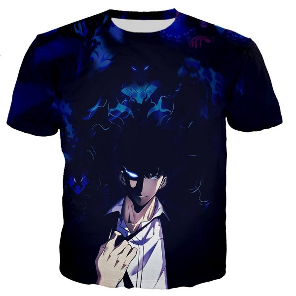 Solo Leveling Strongest Hunter Sung Jin-Woo T-Shirt XS Official Solo Leveling Merch