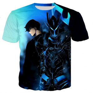 Solo Leveling Sung Jin Woo x Shadow Igris T-Shirt XS Official Solo Leveling Merch