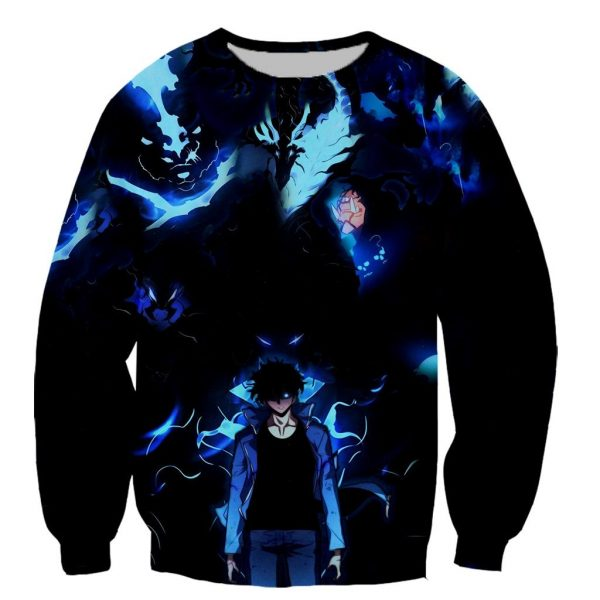 Solo Leveling Full Print Sweater Custom XS Official Solo Leveling Merch