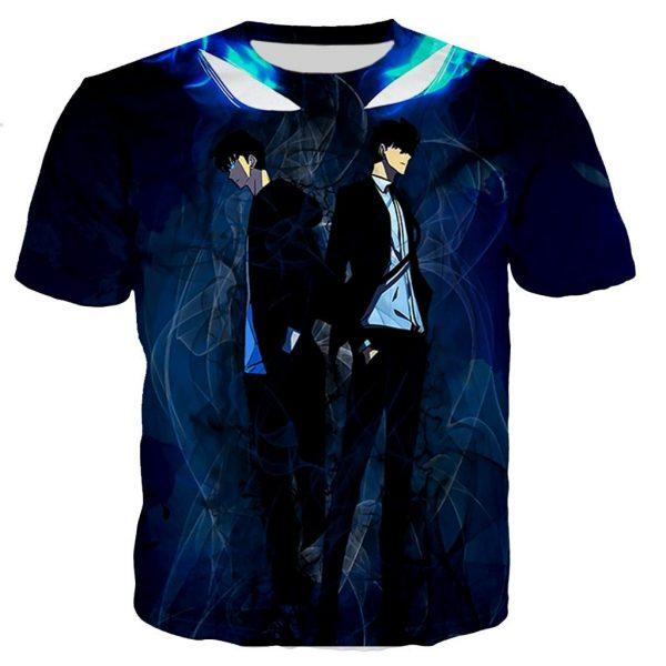Solo Leveling Jin Woo Monarch's Gaze T-Shirt XS Official Solo Leveling Merch