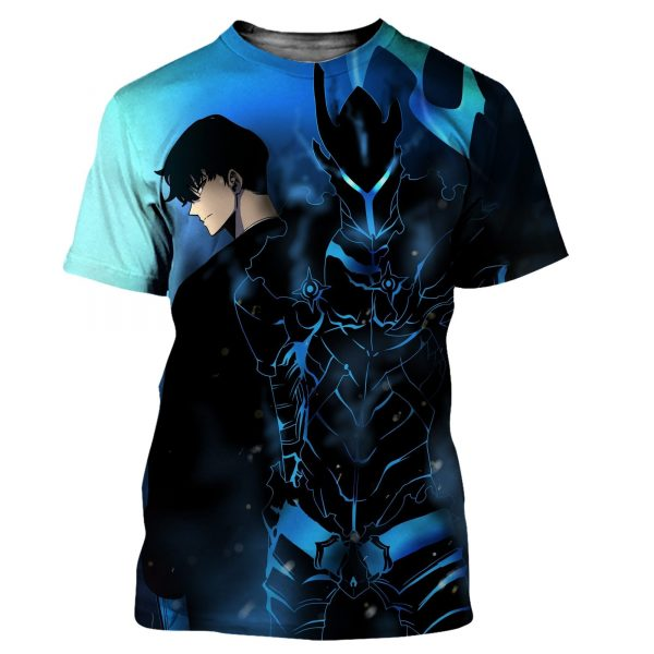 Solo Leveling Monarch Jin Woo x Igris T-Shirt XS Official Solo Leveling Merch