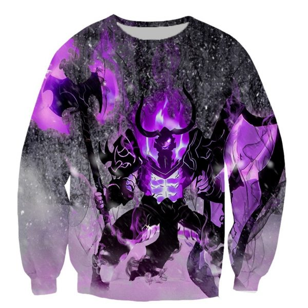 Solo Leveling Printed Long Sleeve Shirt XS Official Solo Leveling Merch
