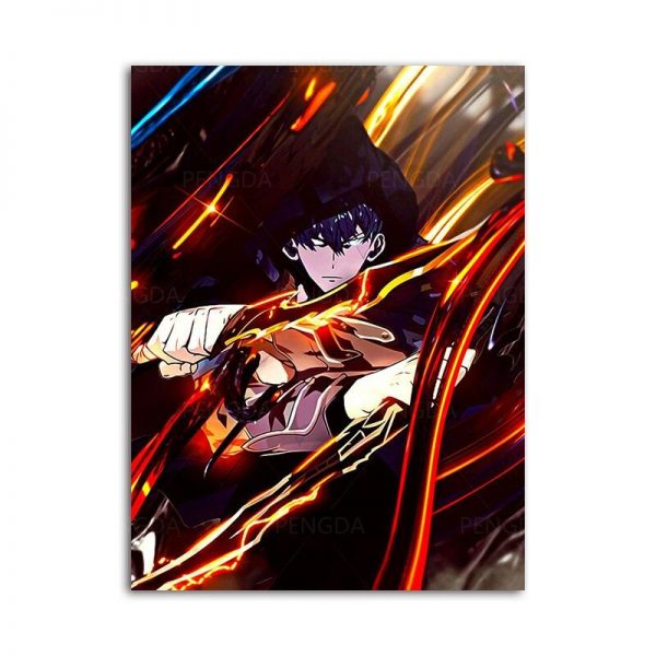 20x25cm  No Frame Official Solo Leveling Merch