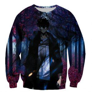 Solo Leveling Cool Sweater Design XS Official Solo Leveling Merch