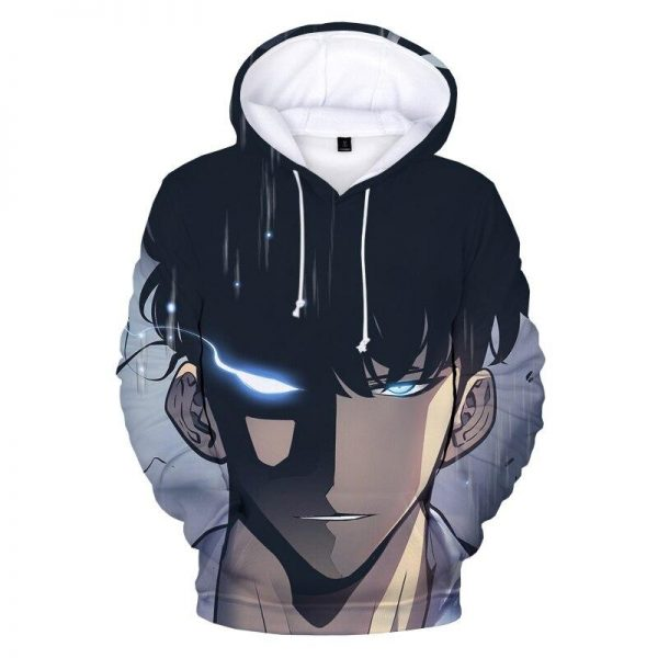 Solo Leveling Strongest Hunter Sung Jin Woo Hoodie XS Official Solo Leveling Merch