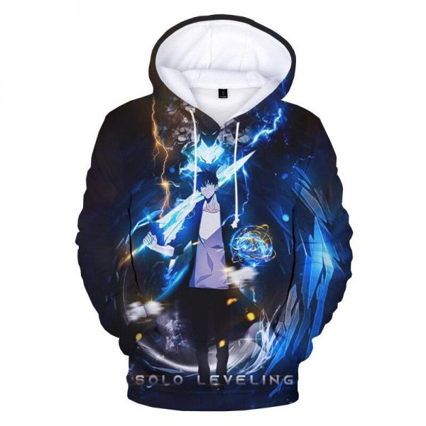 Solo Leveling Shadow Monarch Sung Jin Woo Hoodie XS Official Solo Leveling Merch