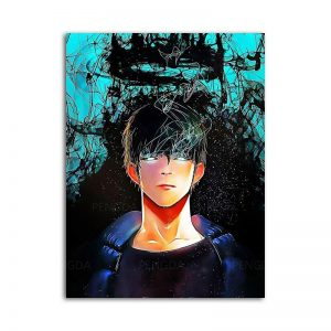 Solo Leveling Poster Sung Jin Woo Fanart 15x20cm  No Frame Official Solo Leveling Merch