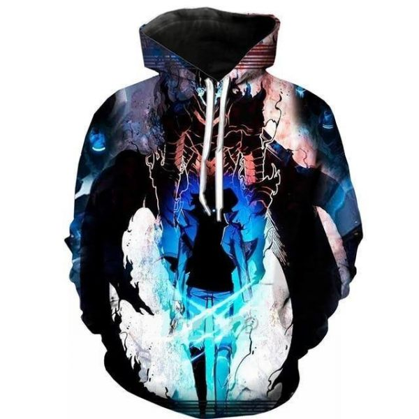 Solo Leveling Jin Woo x Igris Hoodie S Official Solo Leveling Merch
