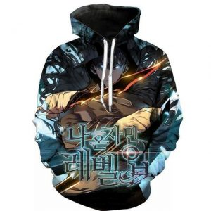 Solo Leveling Hunter Sung Jin-Woo Hoodie S Official Solo Leveling Merch