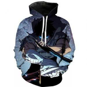 Solo Leveling Jin Woo Monarch Hoodie S Official Solo Leveling Merch