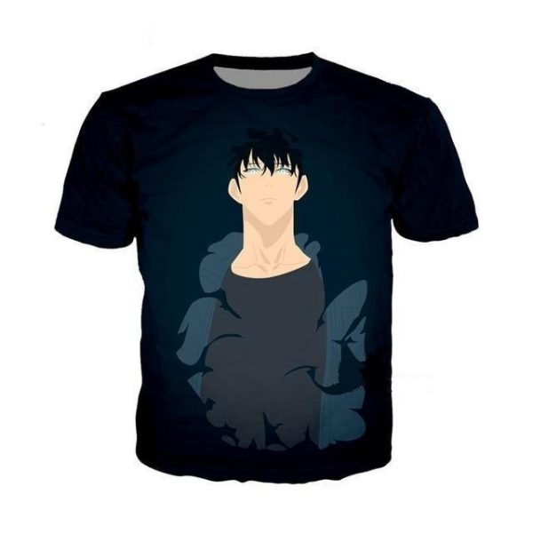 Solo Leveling Sung Jin Woo Anime T Shirt XS Official Solo Leveling Merch