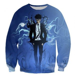 Solo Leveling Jin-Woo Shadow Extraction Sweatshirt XS Official Solo Leveling Merch