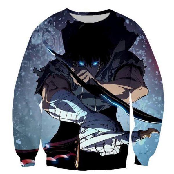 Solo Leveling Jin-Woo Knight Killer Dagger Sweatshirt S Official Solo Leveling Merch