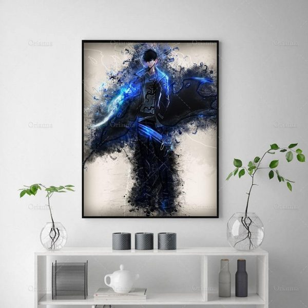 13x18cm No Framed / 1 / China Official Solo Leveling Merch