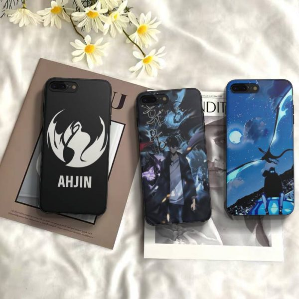 Anime Solo Leveling Sung Jin Woo Phone Case Fundas Shell Cover For Iphone 6 6s 7 - Solo Leveling Merch Store