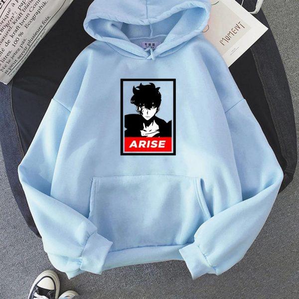 Anime Solo Leveling Sung Jin Woo Printed Hoodies Hot Korean Plus Size Sweatshirt Men women Hoodie 4 - Solo Leveling Merch Store