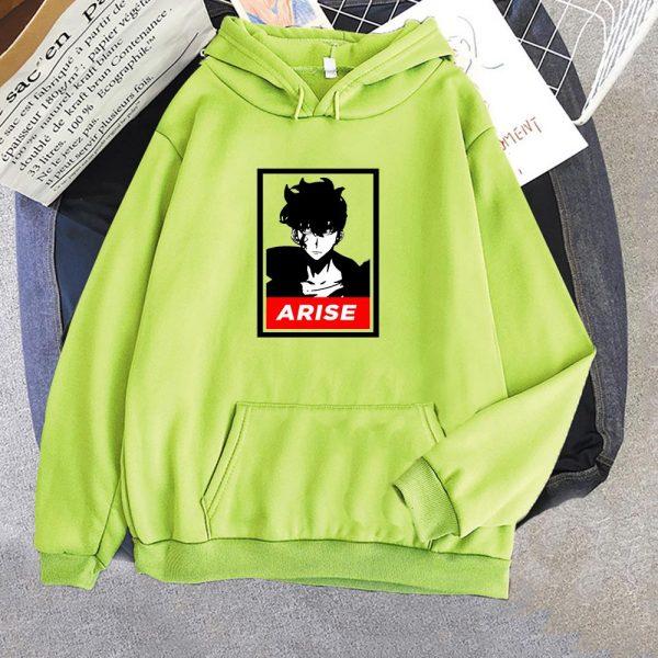 Anime Solo Leveling Sung Jin Woo Printed Hoodies Hot Korean Plus Size Sweatshirt Men women Hoodie 5 - Solo Leveling Merch Store