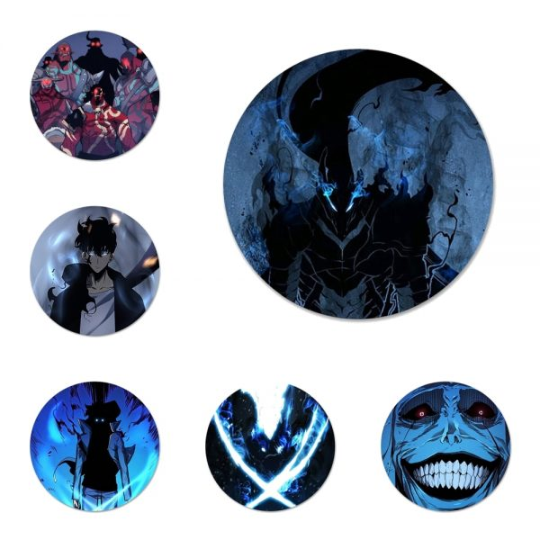 Anime solo leveling Icons Pins Badge Decoration Brooches Metal Badges For Backpack Decoration - Solo Leveling Merch Store