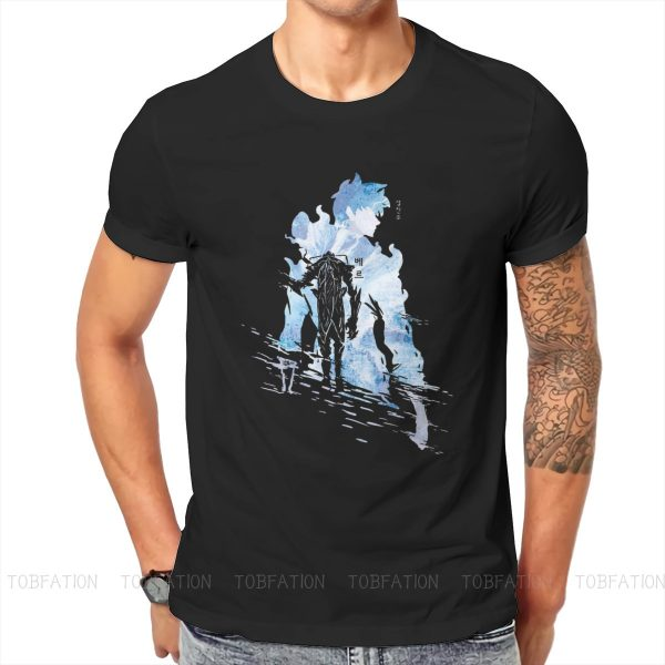 Arrival Round Collar TShirt Solo Leveling Sung Jin Woo Yoo Jin Ho Anime Fabric Basic T - Solo Leveling Merch Store