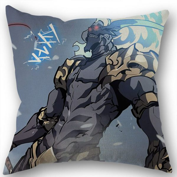 Custom Square Pillowcase Anime Solo Leveling Cotton Linen Pillow Cover Zippered 45x45cm One Sides DIY Gift 5 - Solo Leveling Merch Store