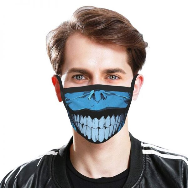 Evil Smile Solo Leveling Gift Face Mask Adult Anti Dust Horror Monster Smiley Mask Protection Respirator 1 - Solo Leveling Merch Store