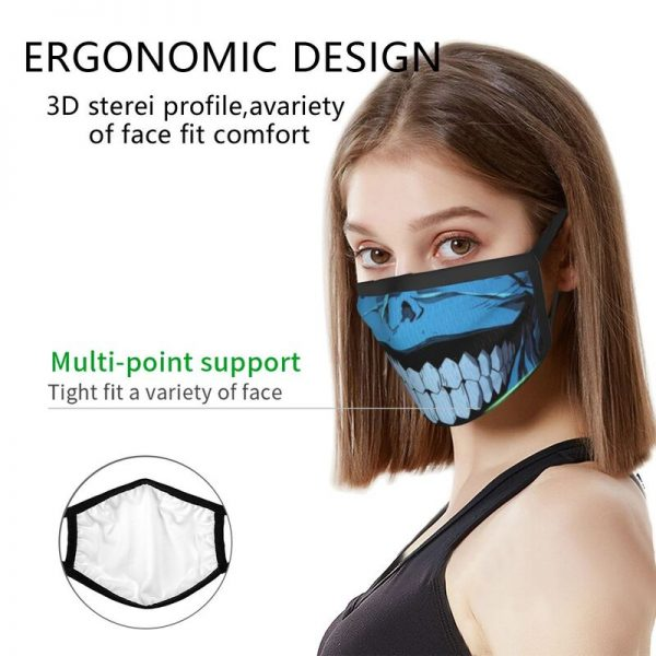 Evil Smile Solo Leveling Gift Face Mask Adult Anti Dust Horror Monster Smiley Mask Protection Respirator 2 - Solo Leveling Merch Store
