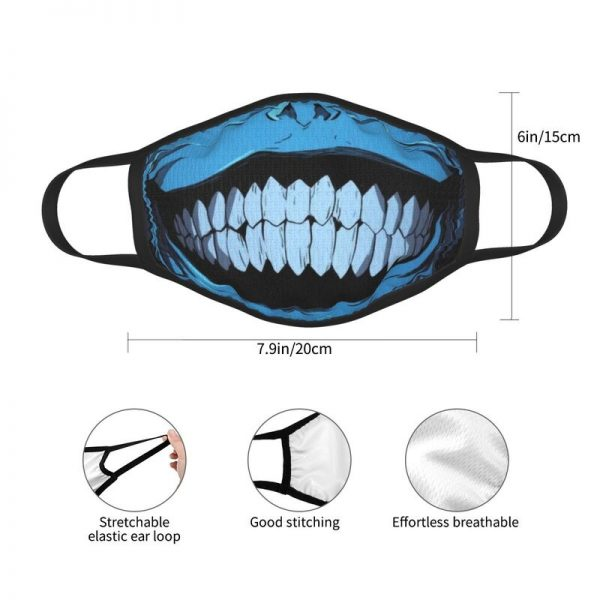 Evil Smile Solo Leveling Gift Face Mask Adult Anti Dust Horror Monster Smiley Mask Protection Respirator 3 - Solo Leveling Merch Store