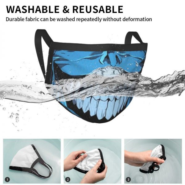 Evil Smile Solo Leveling Gift Face Mask Adult Anti Dust Horror Monster Smiley Mask Protection Respirator 4 - Solo Leveling Merch Store