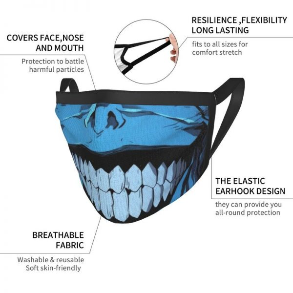 Evil Smile Solo Leveling Gift Face Mask Adult Anti Dust Horror Monster Smiley Mask Protection Respirator 5 - Solo Leveling Merch Store