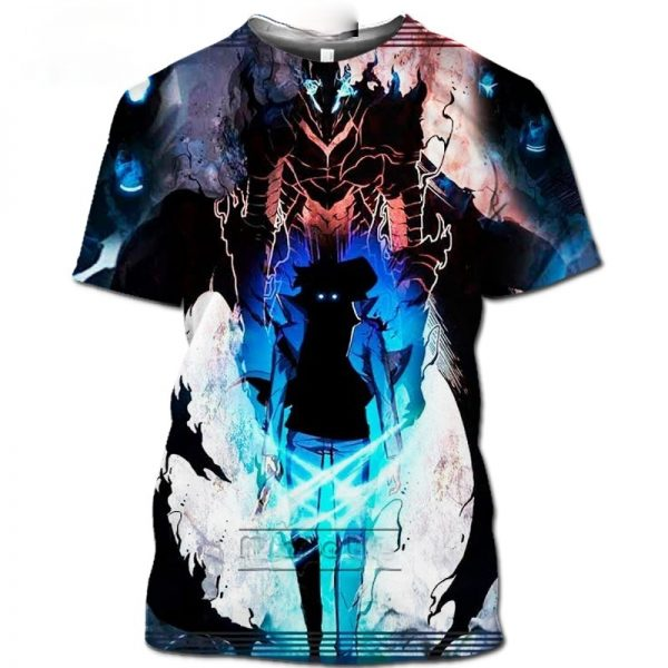 Hot Comic Solo Leveling Shirt Homme Fashion Funny Men s T Shirts 3D Anime Harajuku Jin - Solo Leveling Merch Store