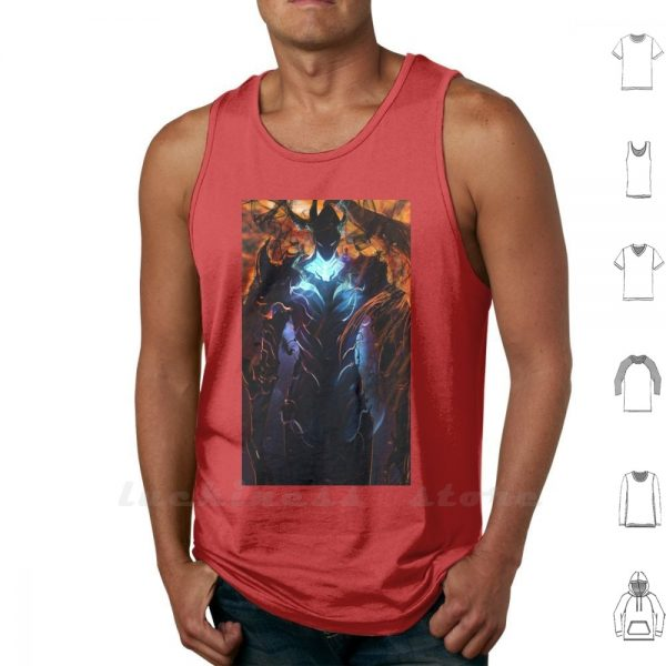 Igris The Demon From Solo Leveling Tank Tops Vest 100 Cotton Cha Hae In Vice Guild - Solo Leveling Merch Store