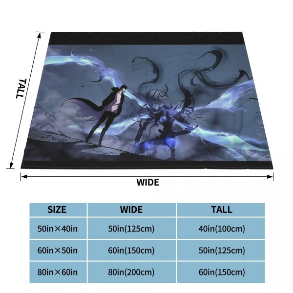 Manhwa Solo Leveling Igris And Sung Jin Woo Blanket Bedspread Plaid Bedsheets Winter Blanket 3 - Solo Leveling Merch Store
