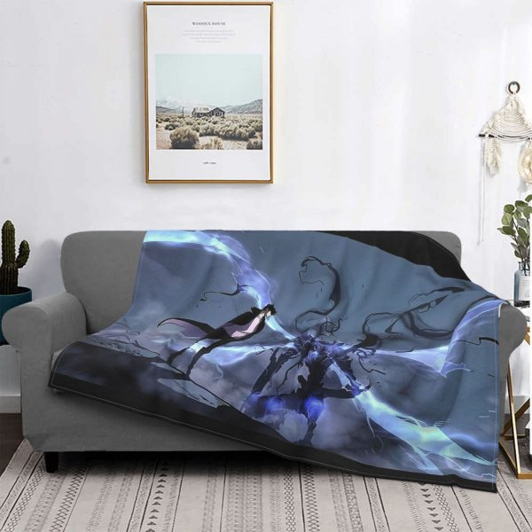 Manhwa Solo Leveling Igris And Sung Jin Woo Blanket Bedspread Plaid Bedsheets Winter Blanket - Solo Leveling Merch Store
