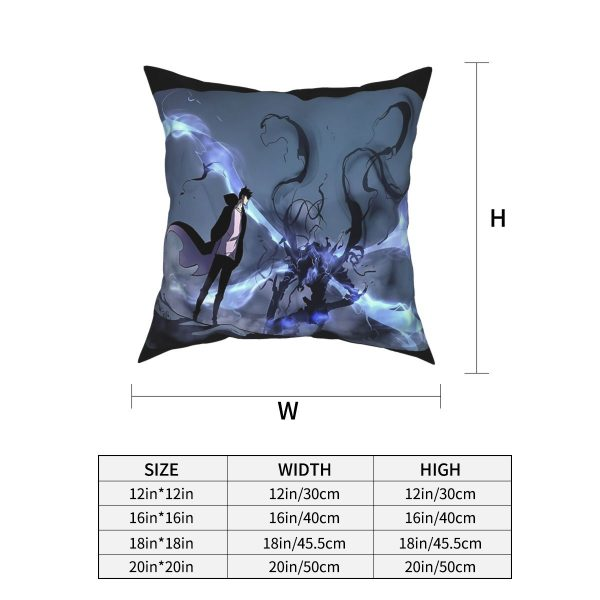 Manhwa Solo Leveling Igris And Sung Jin Woo Pillow Case Cover Easter Pillowcase Cushions Sofa 3 - Solo Leveling Merch Store