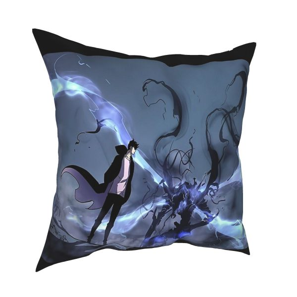 Manhwa Solo Leveling Igris And Sung Jin Woo Pillow Case Cover Easter Pillowcase Cushions Sofa - Solo Leveling Merch Store