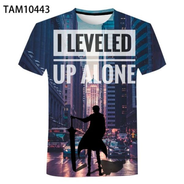 Men s And Women s Summer New 3D Solo Leveling Printed T Shirt Casual Harajuku - Solo Leveling Merch Store