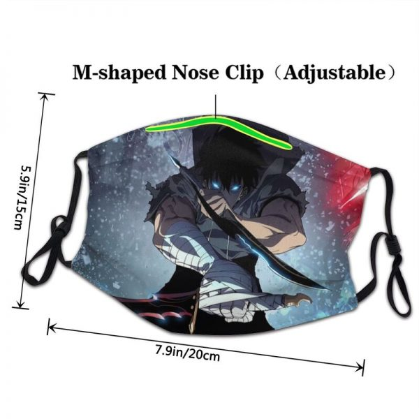 Non Disposable Solo Leveling Mouth Face Mask Adult Manga Mask Men Women Anti Haze Dustproof Protection 2 - Solo Leveling Merch Store