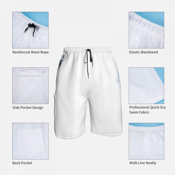 Ripple Junction Solo Leveling Adult Unisex Anime Manga Manwha Beach Shorts Men Beach Pants Swimwear Solo 1 - Solo Leveling Merch Store