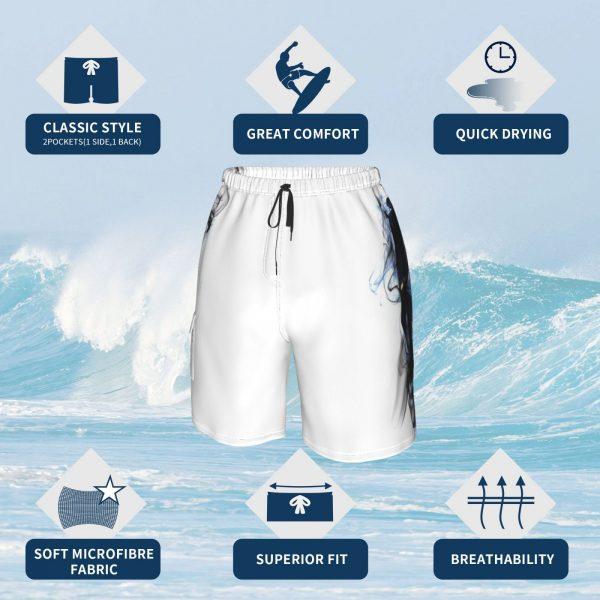 Ripple Junction Solo Leveling Adult Unisex Anime Manga Manwha Beach Shorts Men Beach Pants Swimwear Solo - Solo Leveling Merch Store
