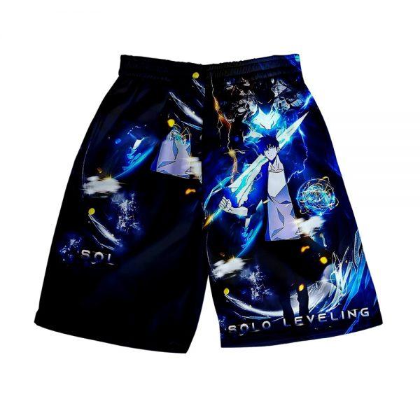 Solo Leveling 3D Print Summer Holiday Women Men Elastic Waist Japan Streetwear Shorts Casual Streetwear Style 1 - Solo Leveling Merch Store